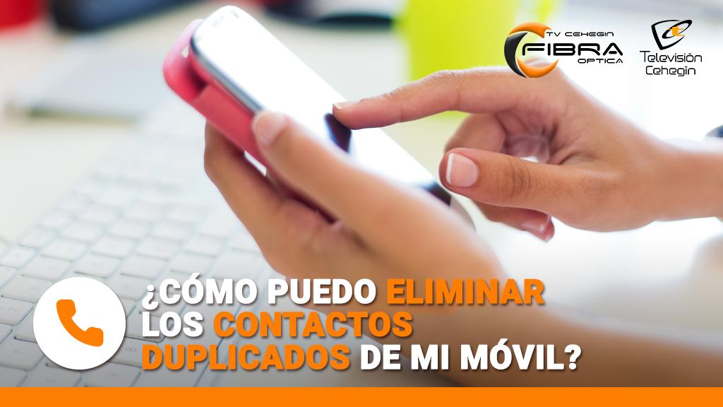 Elimina los contactos duplicados de tu móvil