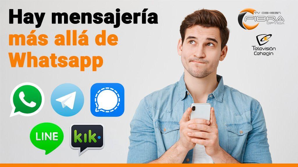 Hay mensajería más allá de Whatsapp