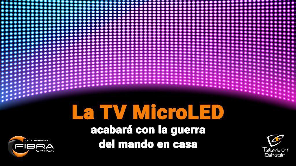 La TV MicroLED acabará con la guerra del mando en casa